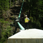 The Penstock at Canoe Creek Hydro
