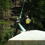 The Penstock at Canoe Creek Hydro
